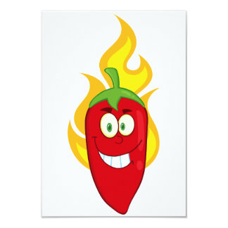 Flaming Chili Pepper Invitations
