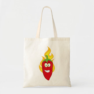 Flaming Chili Pepper Tote Bag