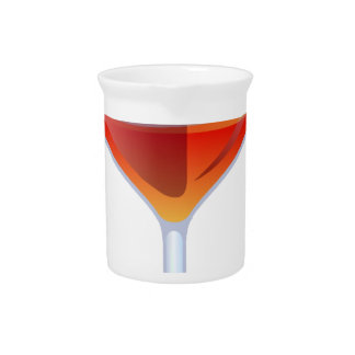 Flaming Cocktail Glass Beverage Pitcher