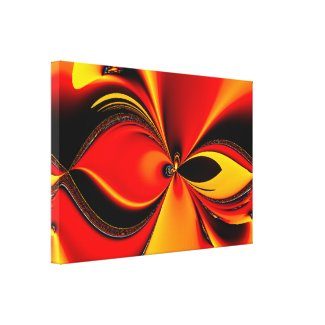 Flaming Color Canvas Print Canvas Print
