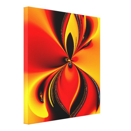 Flaming Color Canvas Print Single to quad panel