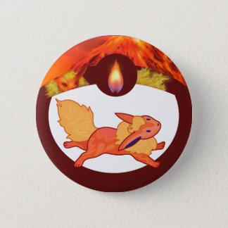 Flaming Critter Pinback Button