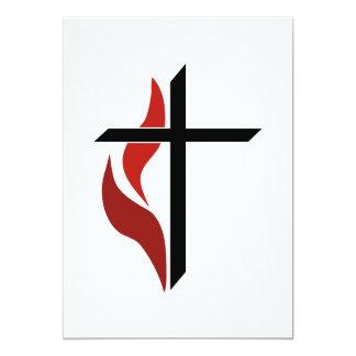 Flaming Cross Card