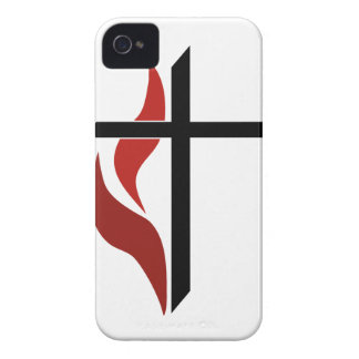 Flaming Cross iPhone 4 Case