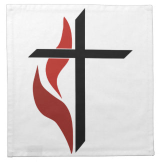 Flaming Cross Napkin