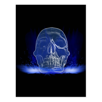 Flaming Cystal Skull Postcard