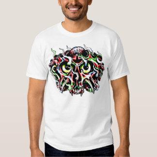 Flaming Demon Skull Tattoo T-Shirt
