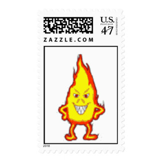 Flaming Devil Stamp