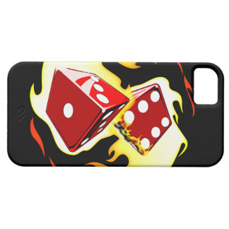 Flaming Dice iPhone SE/5/5s Case