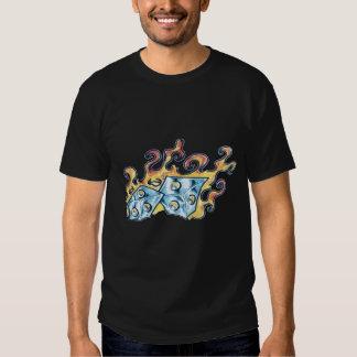 flaming dice shirt