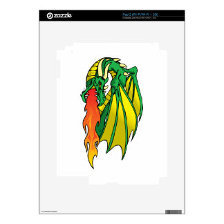 Flaming Dragon Skins For The iPad 2