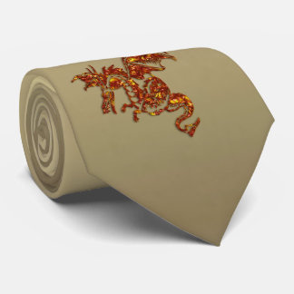 Flaming Dragon Tie