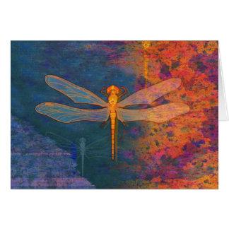 Flaming Dragonfly Card