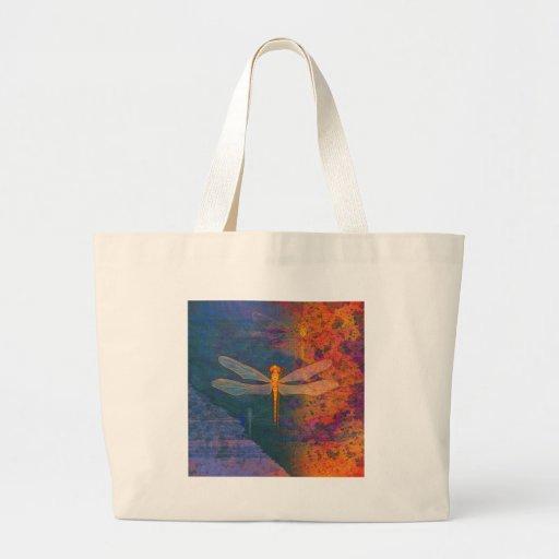Flaming Dragonfly Jumbo Tote Bag