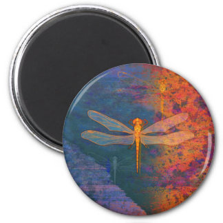 Flaming Dragonfly Magnet