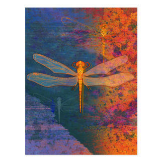 Flaming Dragonfly Post Card