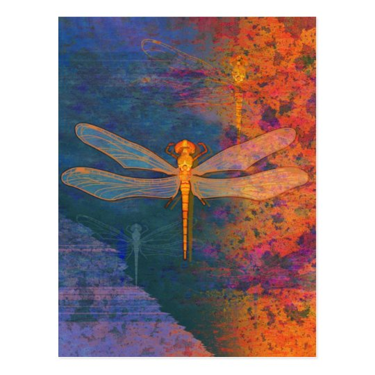 Flaming Dragonfly Postcard