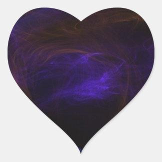Flaming eagle heart sticker