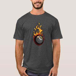 Flaming Eight Ball Billiards T-Shirt