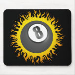 Flaming Eight Ball Mouse Pads