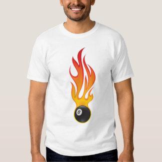 flaming eightballl t-shirt