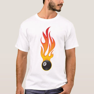 flaming eightballl T-Shirt