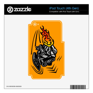 Flaming Engine iPod Touch 4G Skin