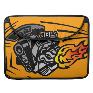 Flaming Engine Sleeve For MacBooks