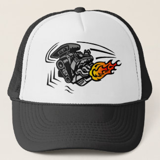 Flaming Engine Trucker Hat