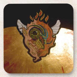 Flaming eye.jpg drink coaster