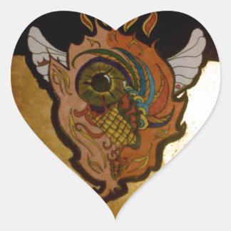 Flaming eye.jpg heart sticker