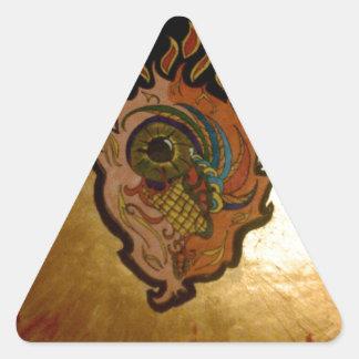 Flaming eye.jpg triangle sticker