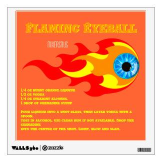 Flaming Eyeball Drink Recipe Wall Decal