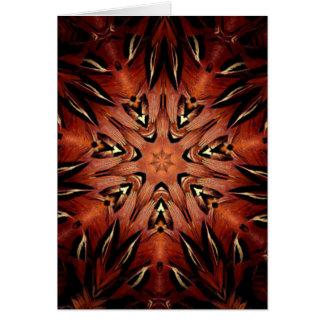 Flaming Feather Kaleidoscope Card