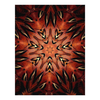 Flaming Feather Kaleidoscope Personalized Flyer