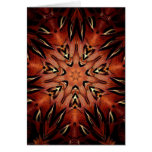 Flaming Feather Kaleidoscope Greeting Card
