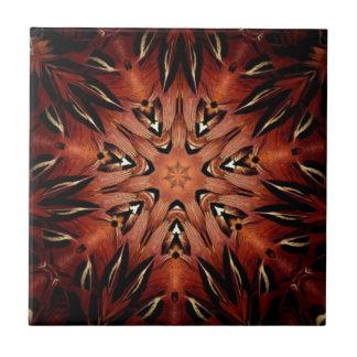 Flaming Feather Kaleidoscope Tile