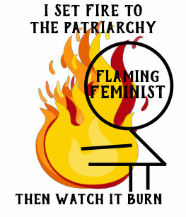 f6929e1eab38f Flaming Feminist Burn the Patriarchy 7 Tank Top