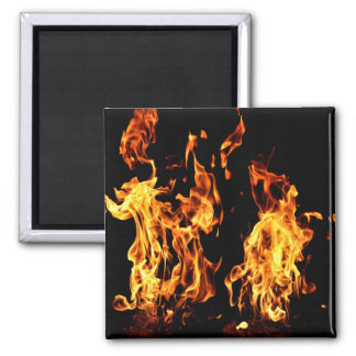 Flaming Fire Burning Gifts Magnet