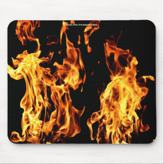 Flaming Fire Burning Gifts Mouse Pad
