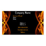FLAMING FIRE BUSINESS CARD