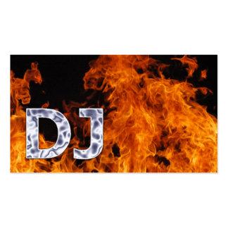 Flaming Fire DJ Music Business Card
