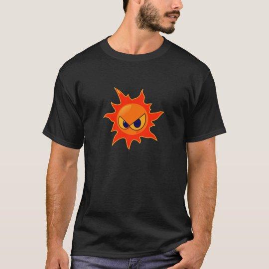 Flaming Fire Face T Shirt