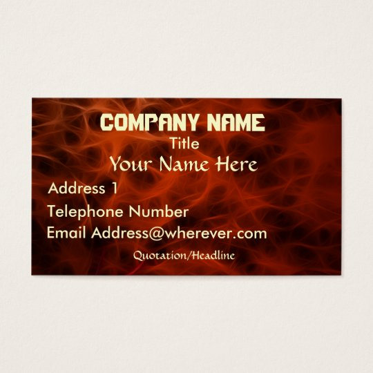 FLAMING FIRE FRACTAL  Business Card
