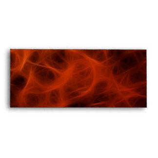 FLAMING FIRE FRACTAL Business Envelope