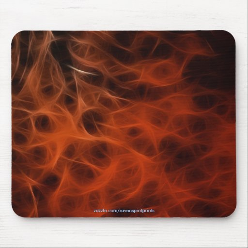 FLAMING FIRE FRACTAL  Mousepad
