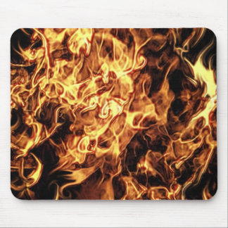 FLAMING FIRE MOUSE PAD