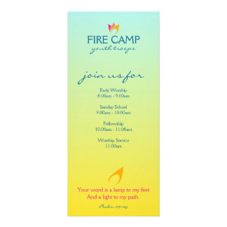 Flaming Fire (orange to pink flames) Rack Card