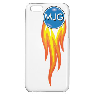 Flaming Fireball Personalized Initials Case For iPhone 5C