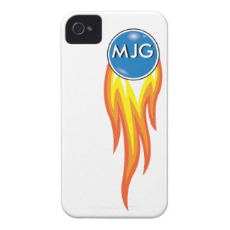 Flaming Fireball Personalized Initials iPhone 4 Case-Mate Case